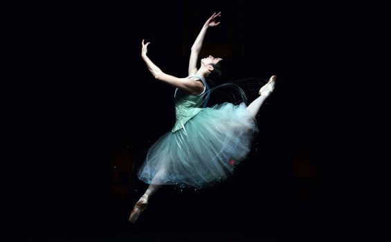 Fiber Optic Tutu in Flight Photo by C. S. Muncy