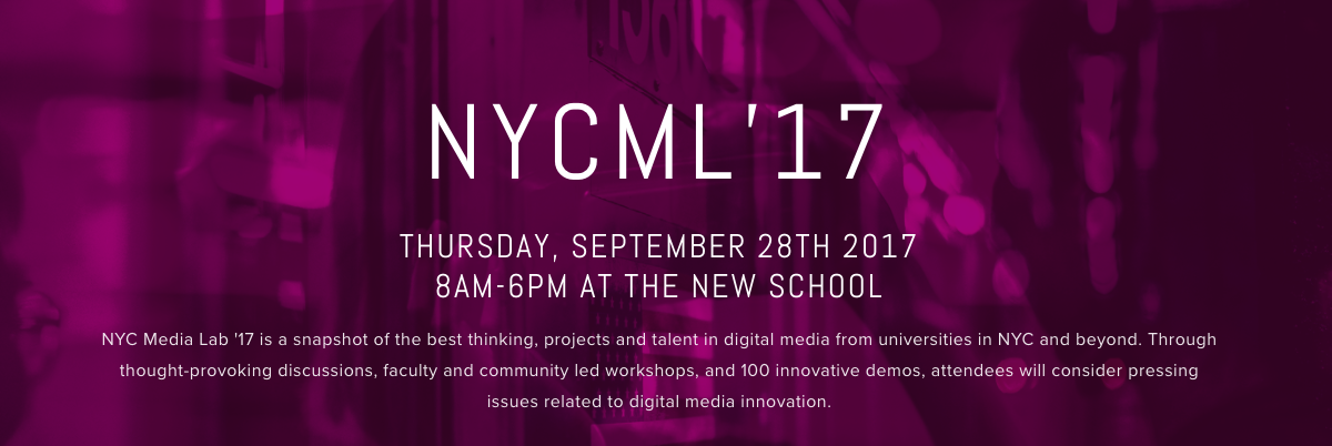 NYC Media Lab Summit 2017
